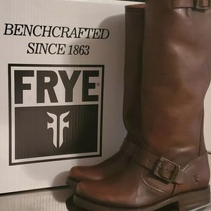 Frye Veronica Slouch Dark Brown 5.5M Boots